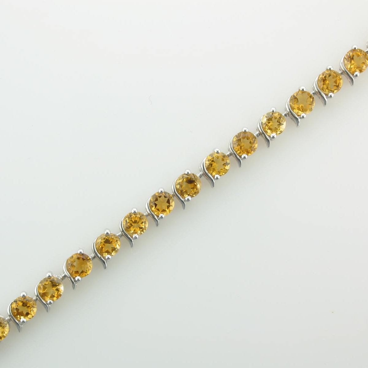 8.64tcw Citrine  Bracelet set in Sterling Silver