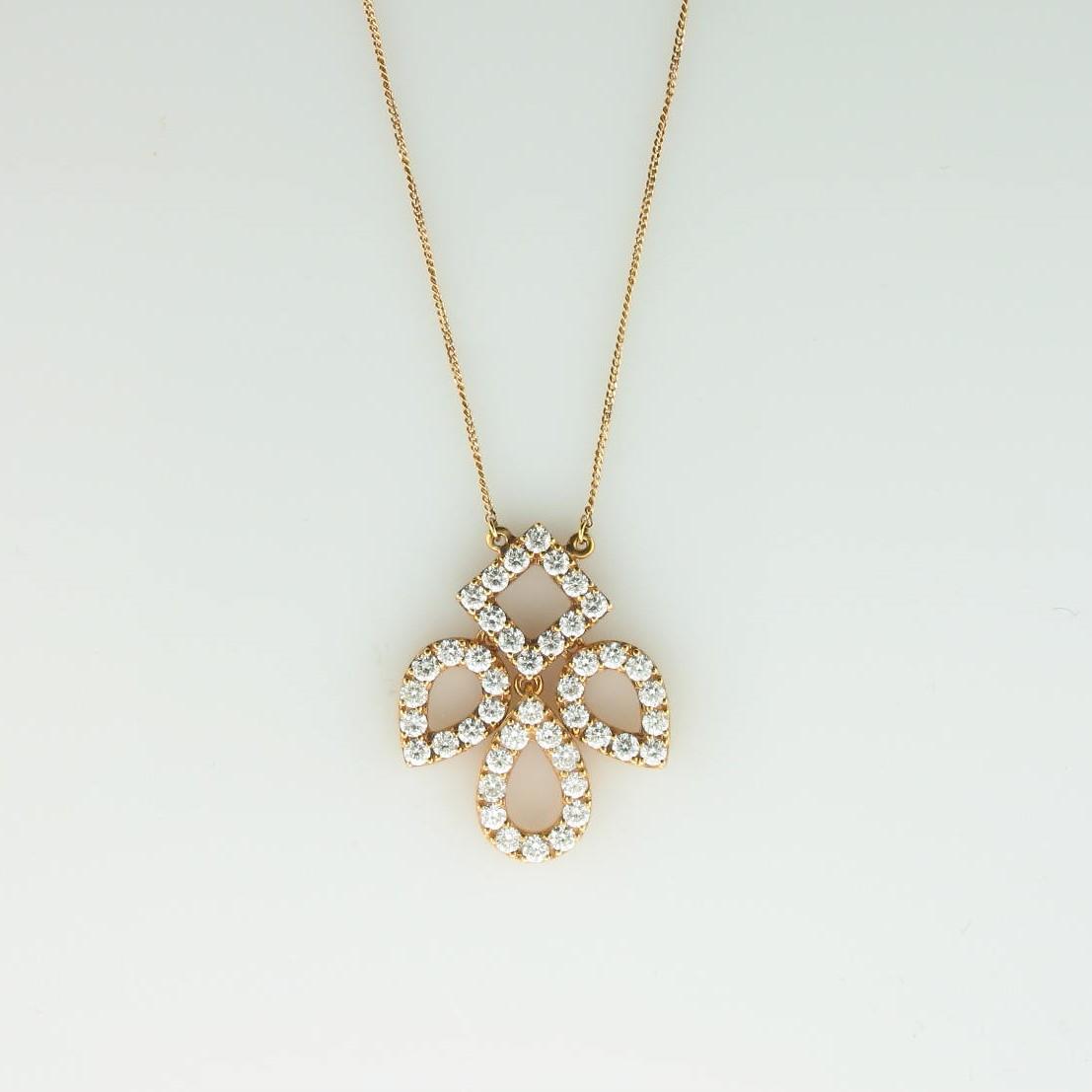 0.86tcw Diamond Necklace Set in 18 Karat Rose Gold
