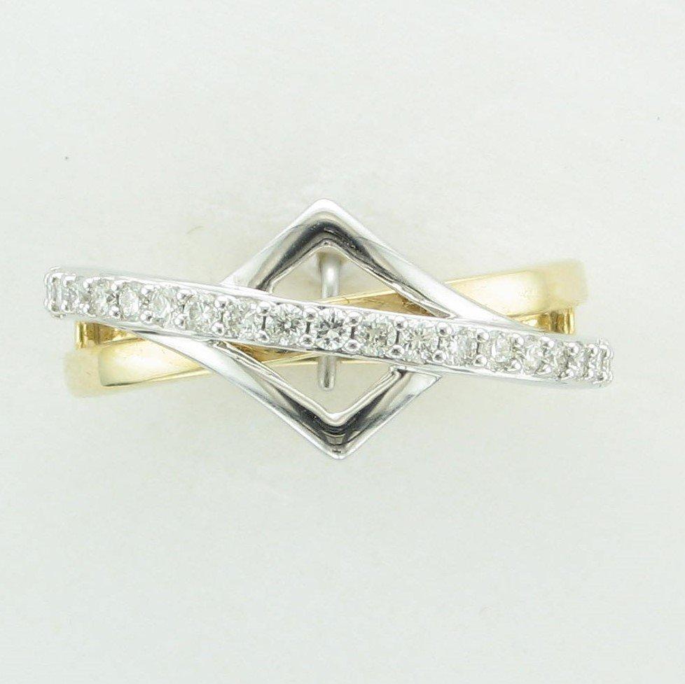 14 Karat  Two Tone Yellow/White Gold Diamond Accent  Ring