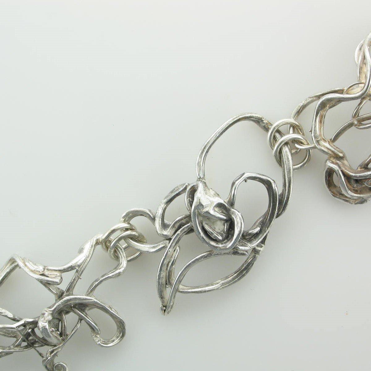 Sterling Silver Freeform Bracelet