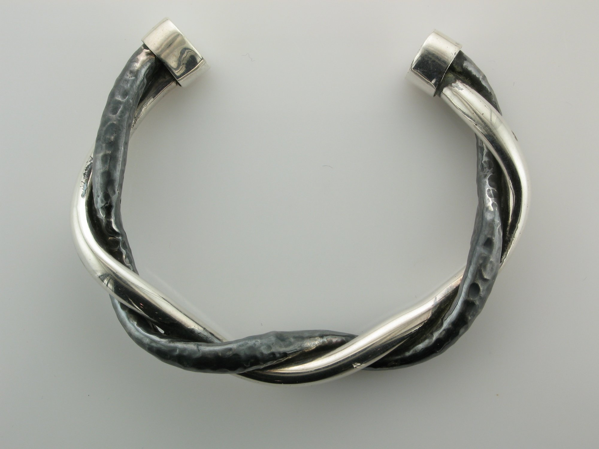 Twisted Bangle in Sterling Silver