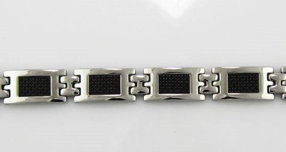 8.25 Men's Stainless Steel Rectangle Bracelet