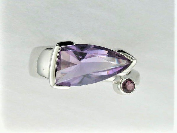 2.40 Total Carat Weight Amethyst Ring set in Sterling Silver