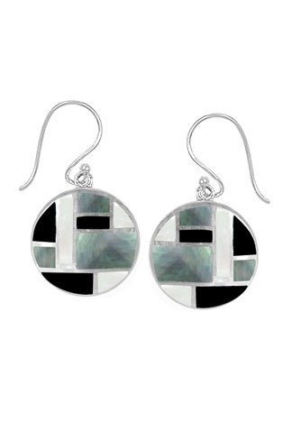 Sterling Silver Geometric Dangle Earring