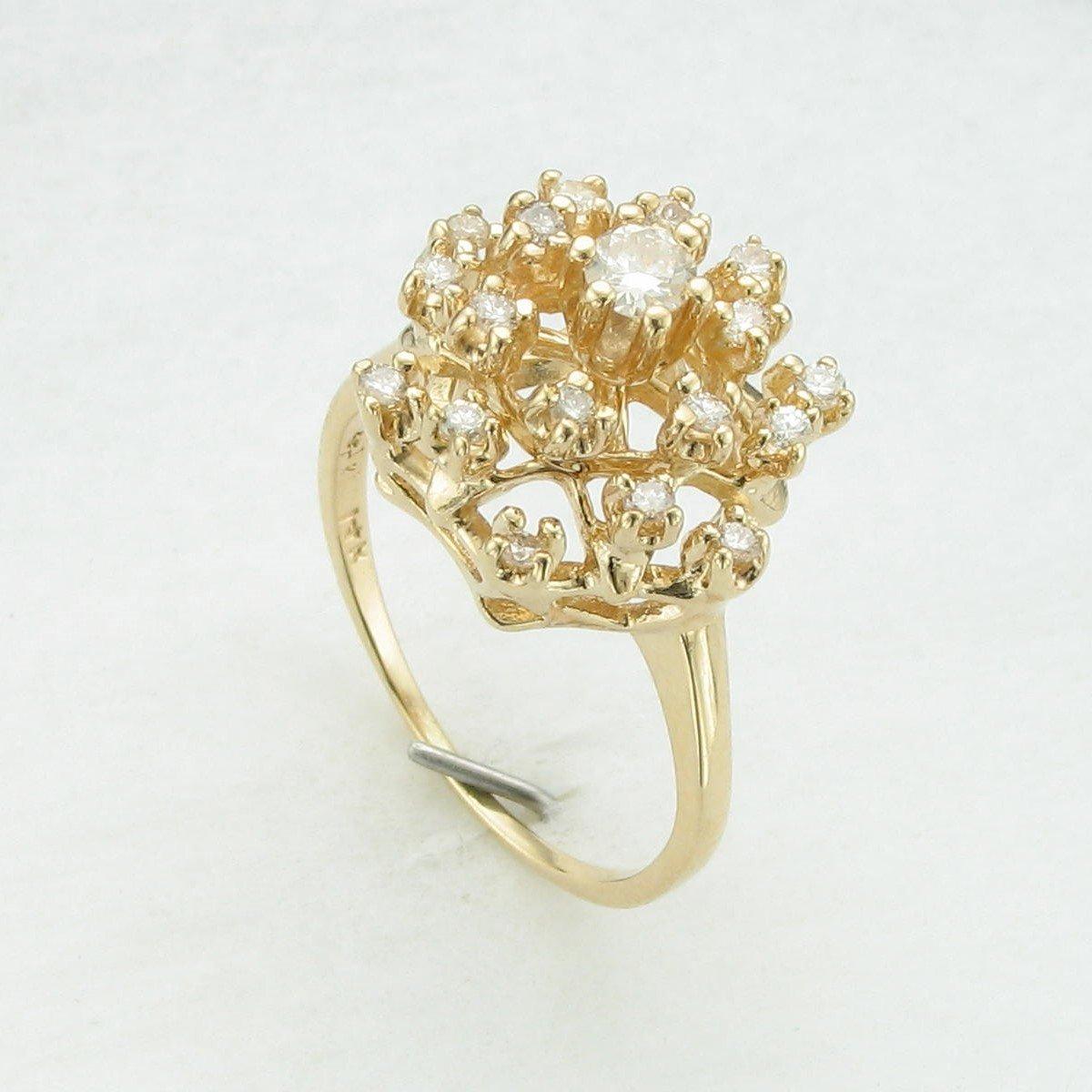 0.25tcw Snowball Diamond Ring in 14k Yellow Gold