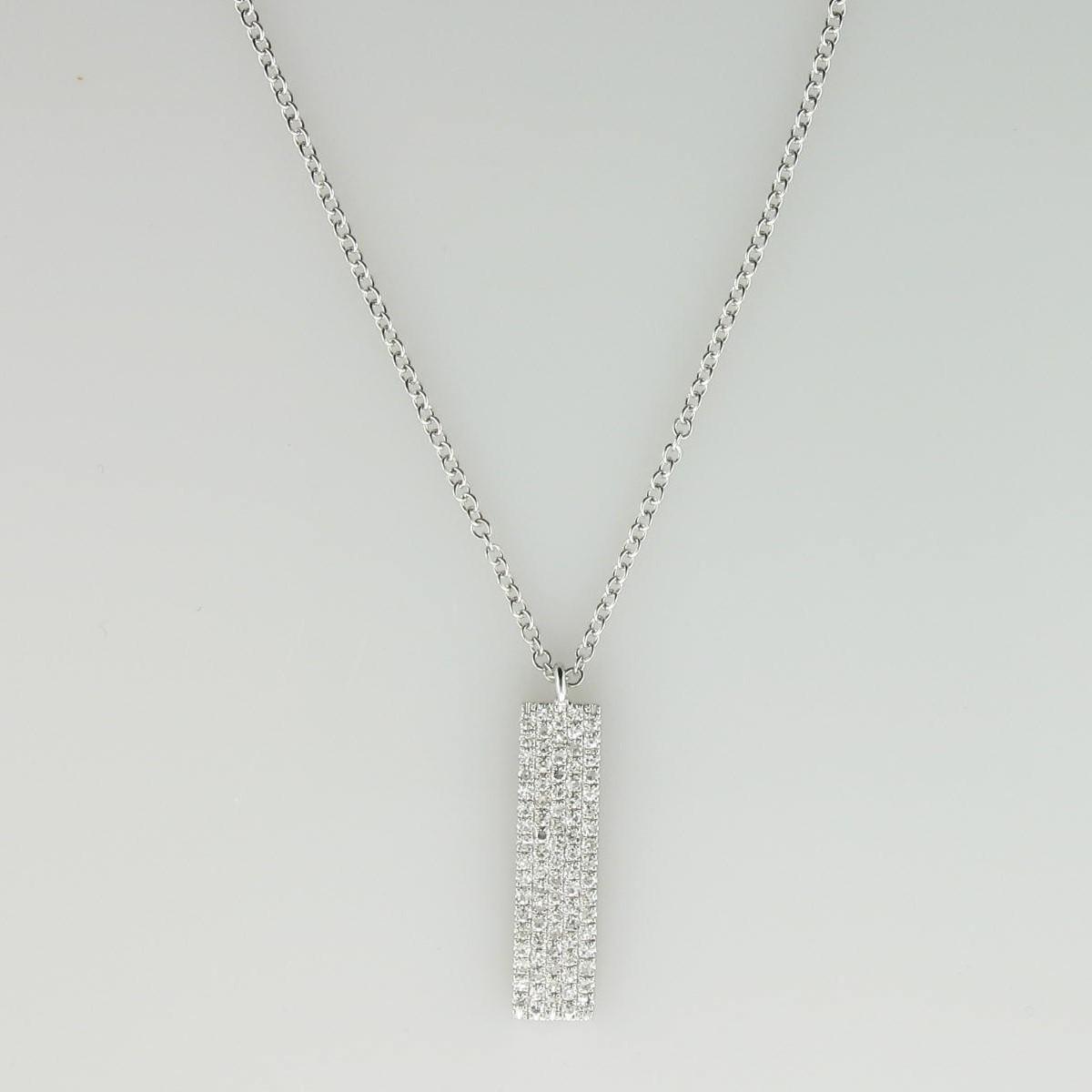 658c84cafd986b 0.25tcw Diamond Vertical Bar set in 14k White Gold. $599.00. 0.37ct  Princess Diamond Pendant ...