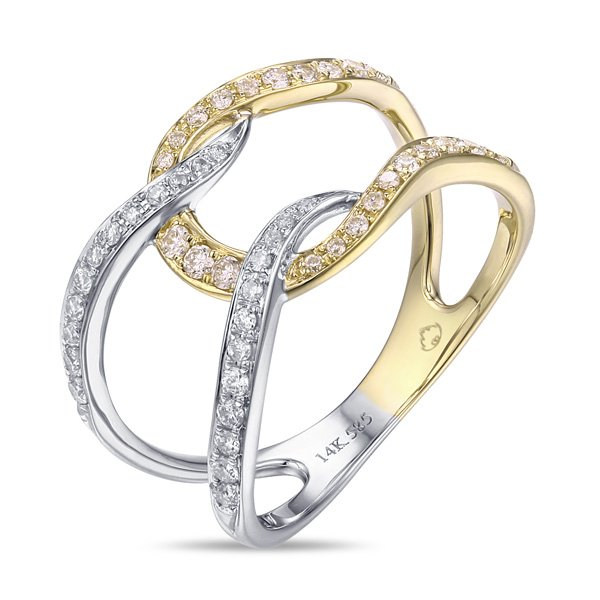 0.33tcw Diamond Two Tone Ring in 14K Yellow & White Gold