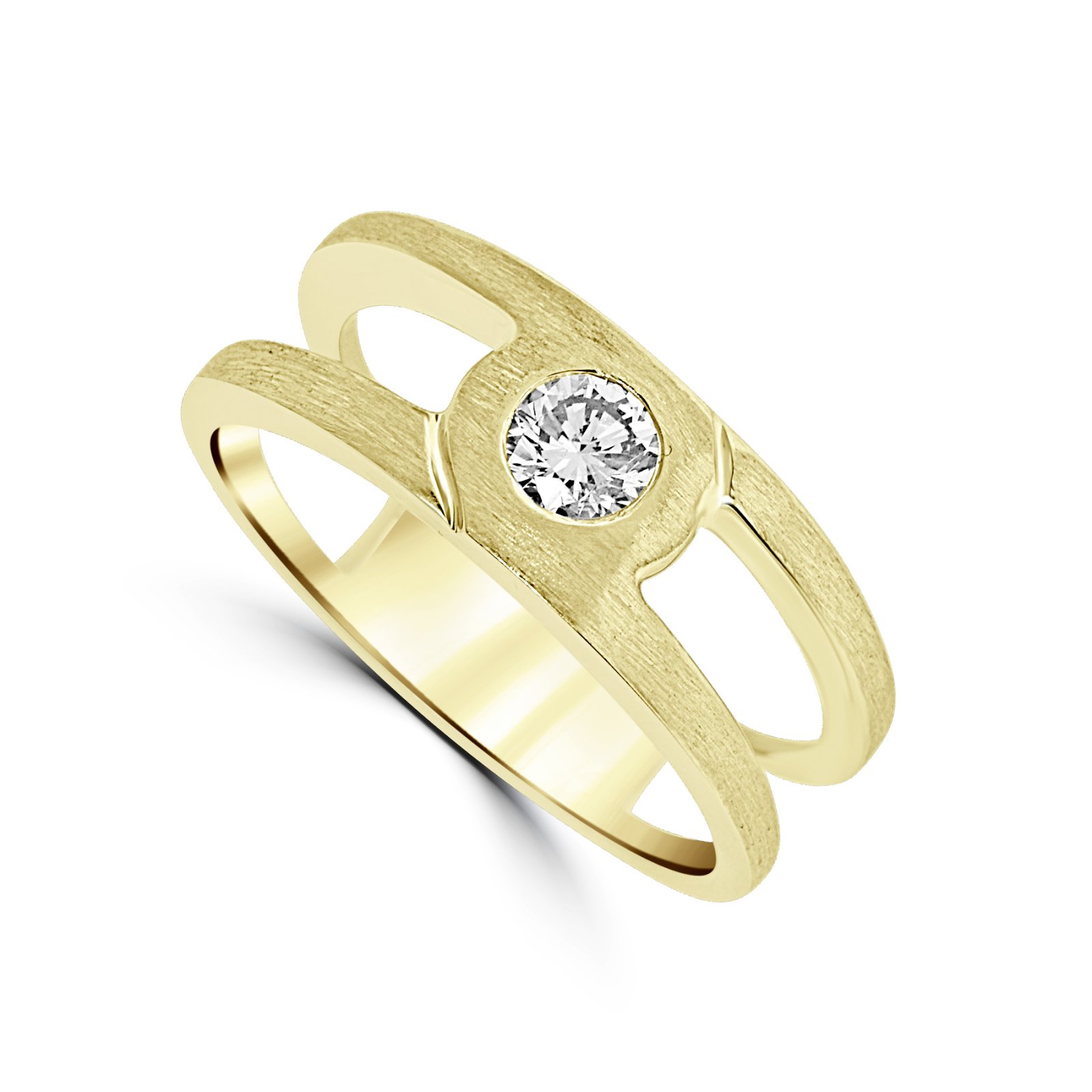 Men's 0.40 Total Carat Weight  Diamond Ring Set in 14 Karat Yellow Gold