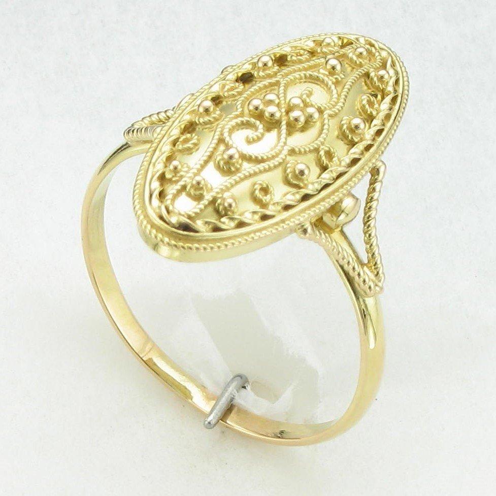 18K Yellow Gold Bali Style Ring