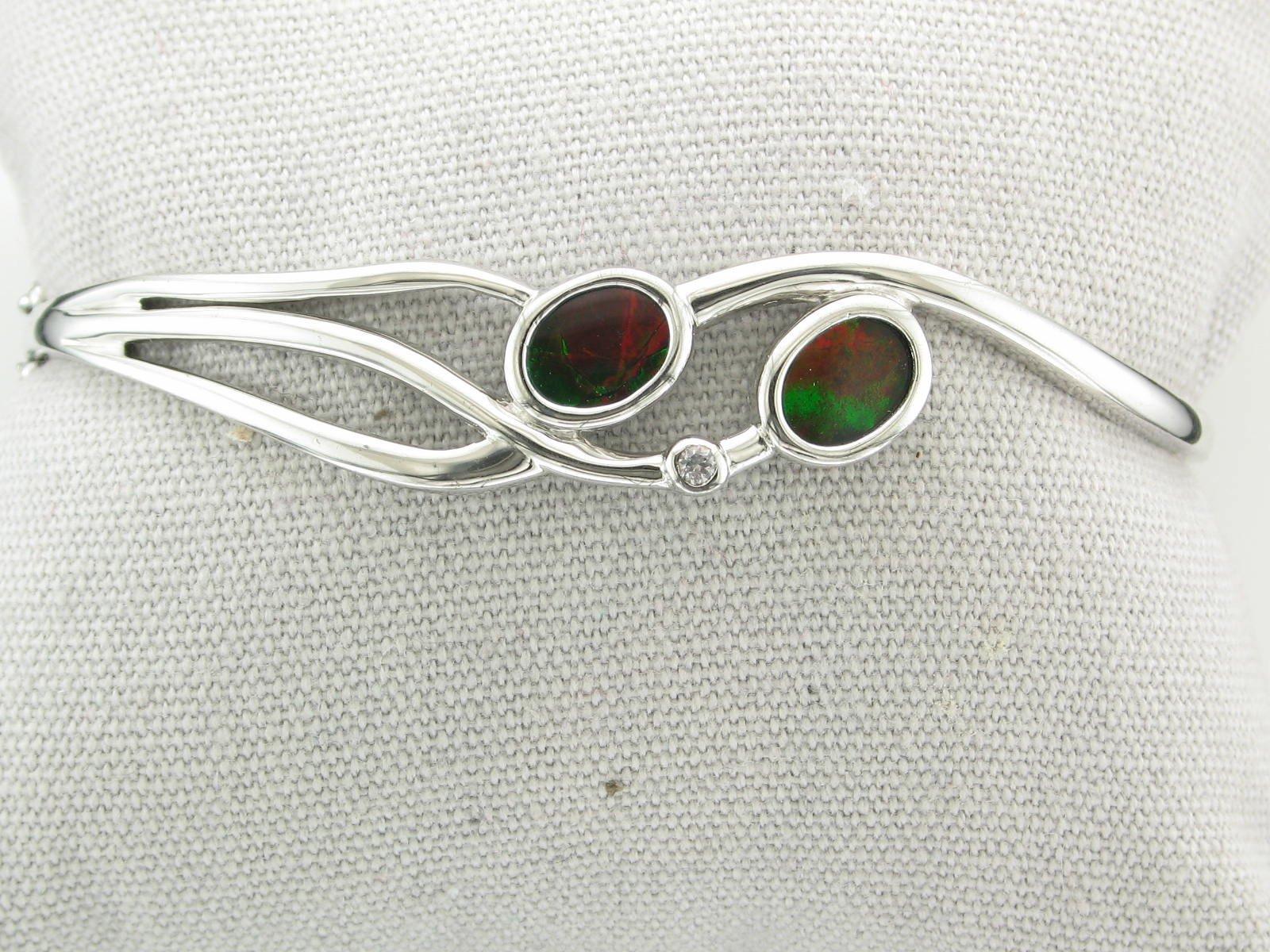 Standard Grade Ammolite Bracelet set in Sterling Silver