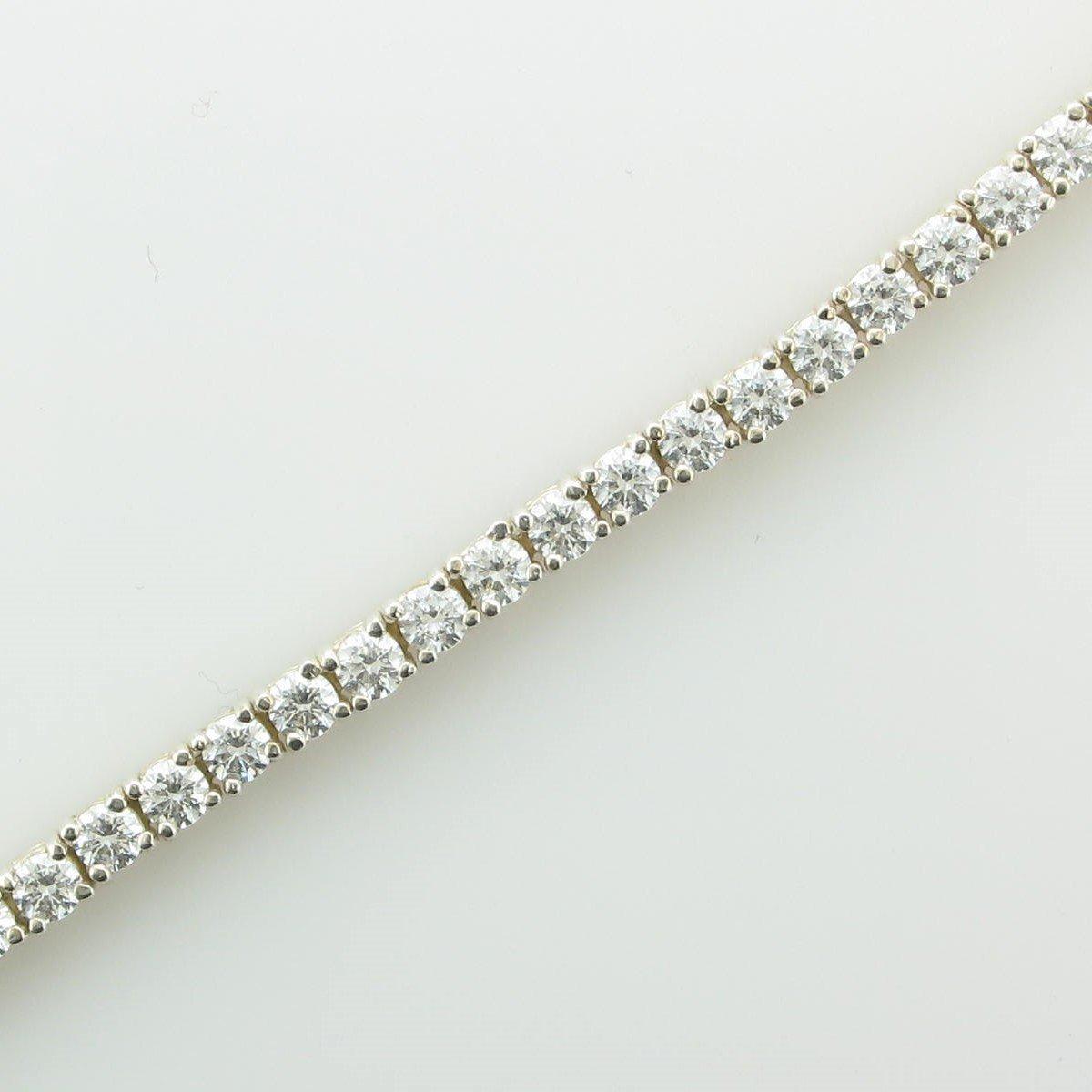 CZ Straight Line Bracelet set in Sterling Silver