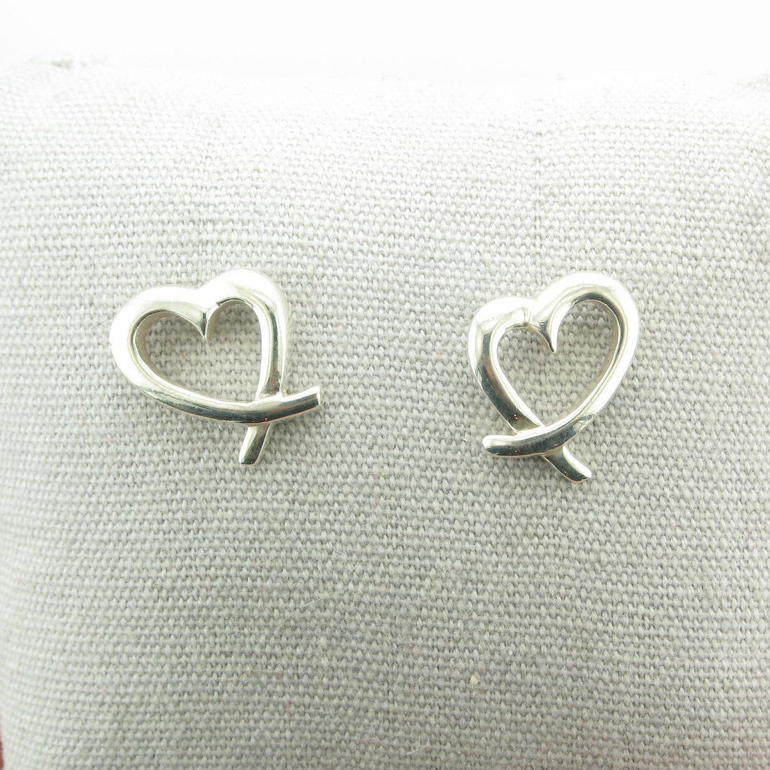 Freeform Heart Earrings set in Sterling Silver