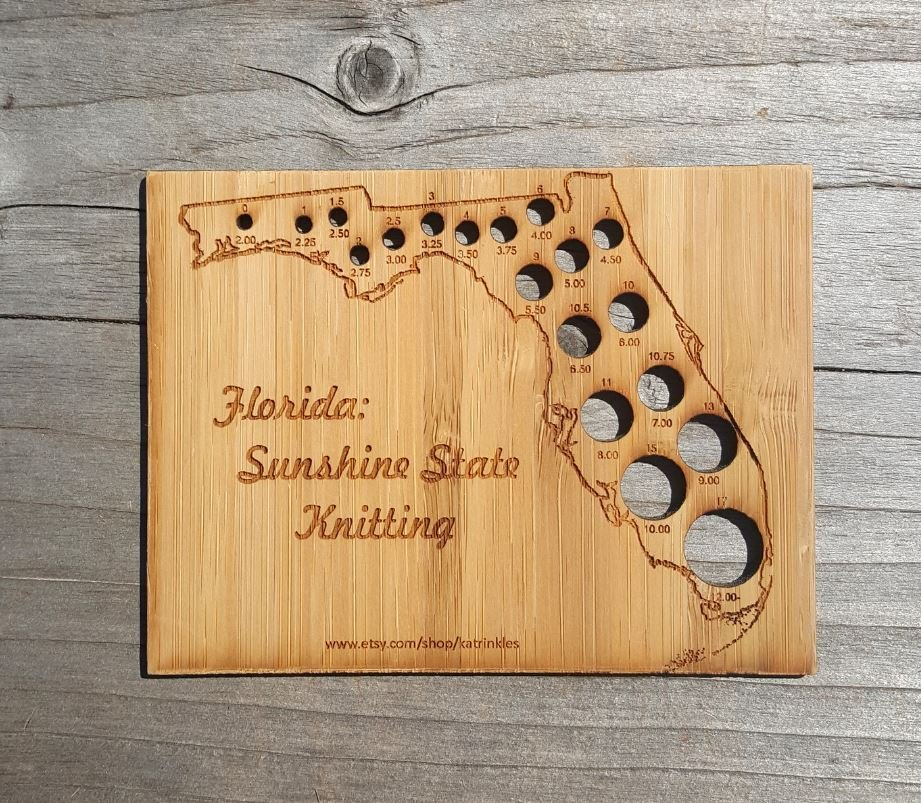 Florida Knitting Needle Gauge