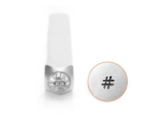 Hashtag Stamp 3mm