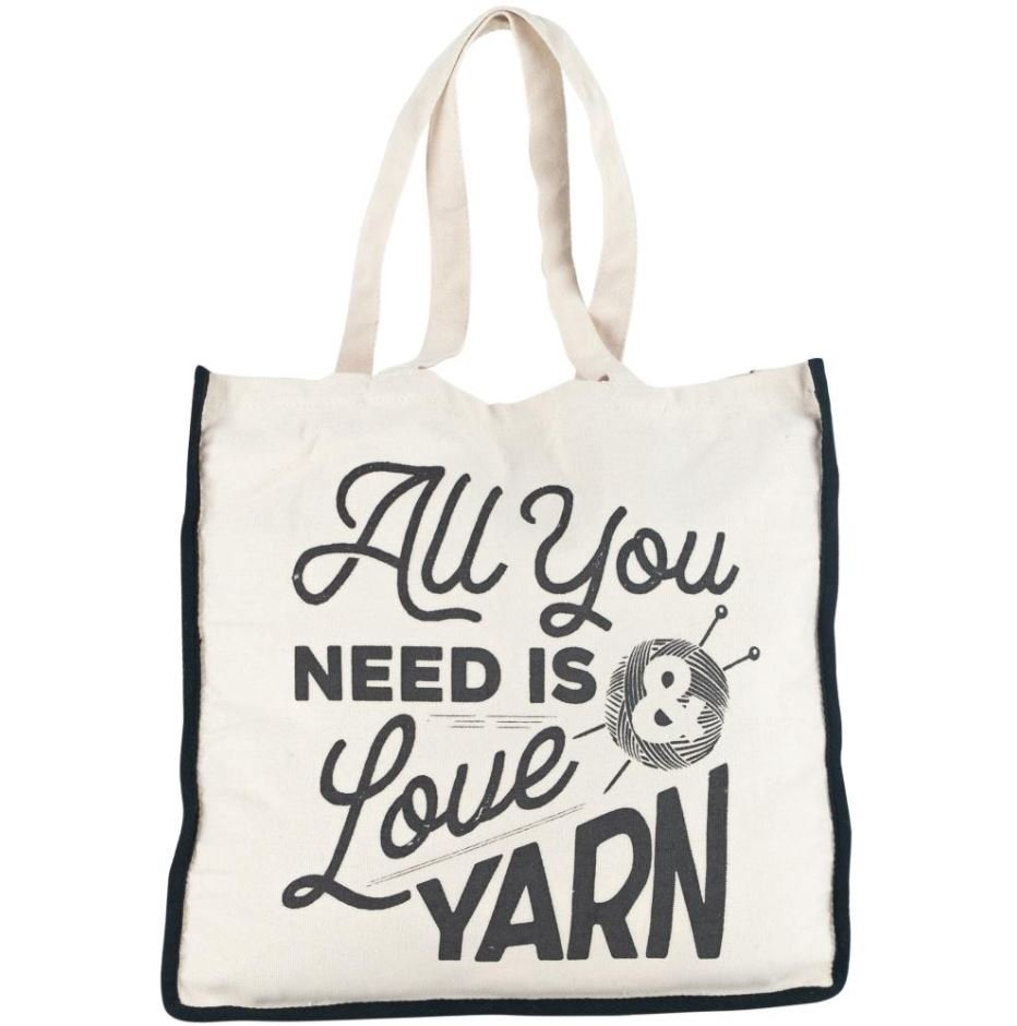 All You Need is Love and Yarn Tote