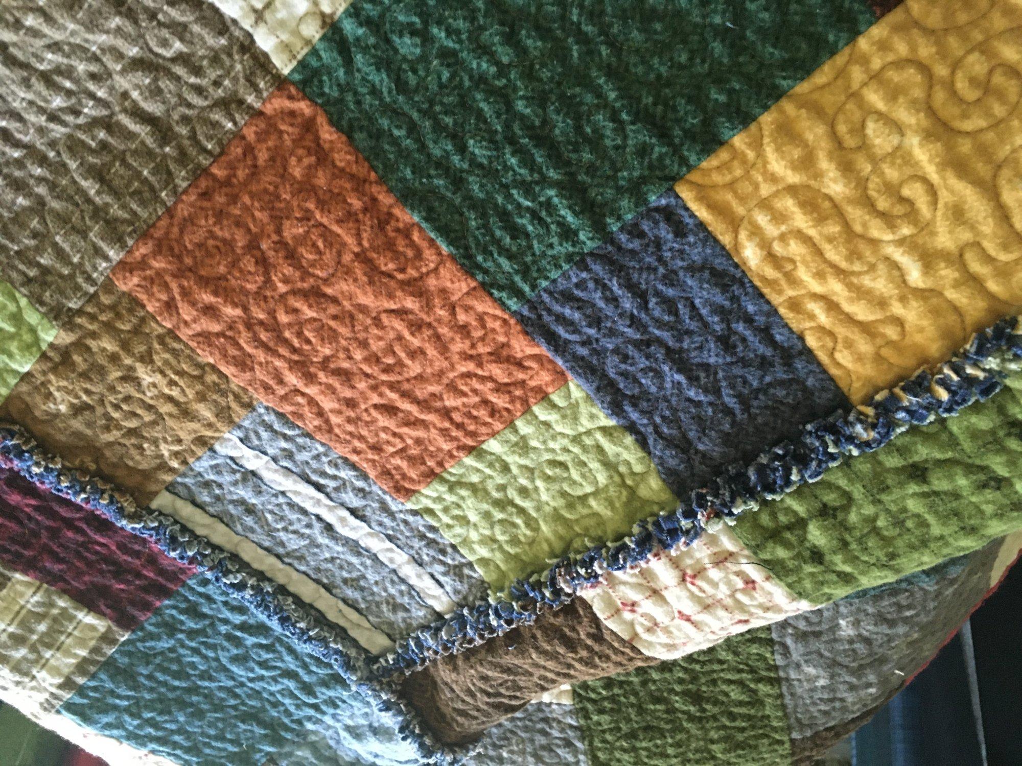 Kit - PaPa Joe Flannel Quilt - Ready to Sew