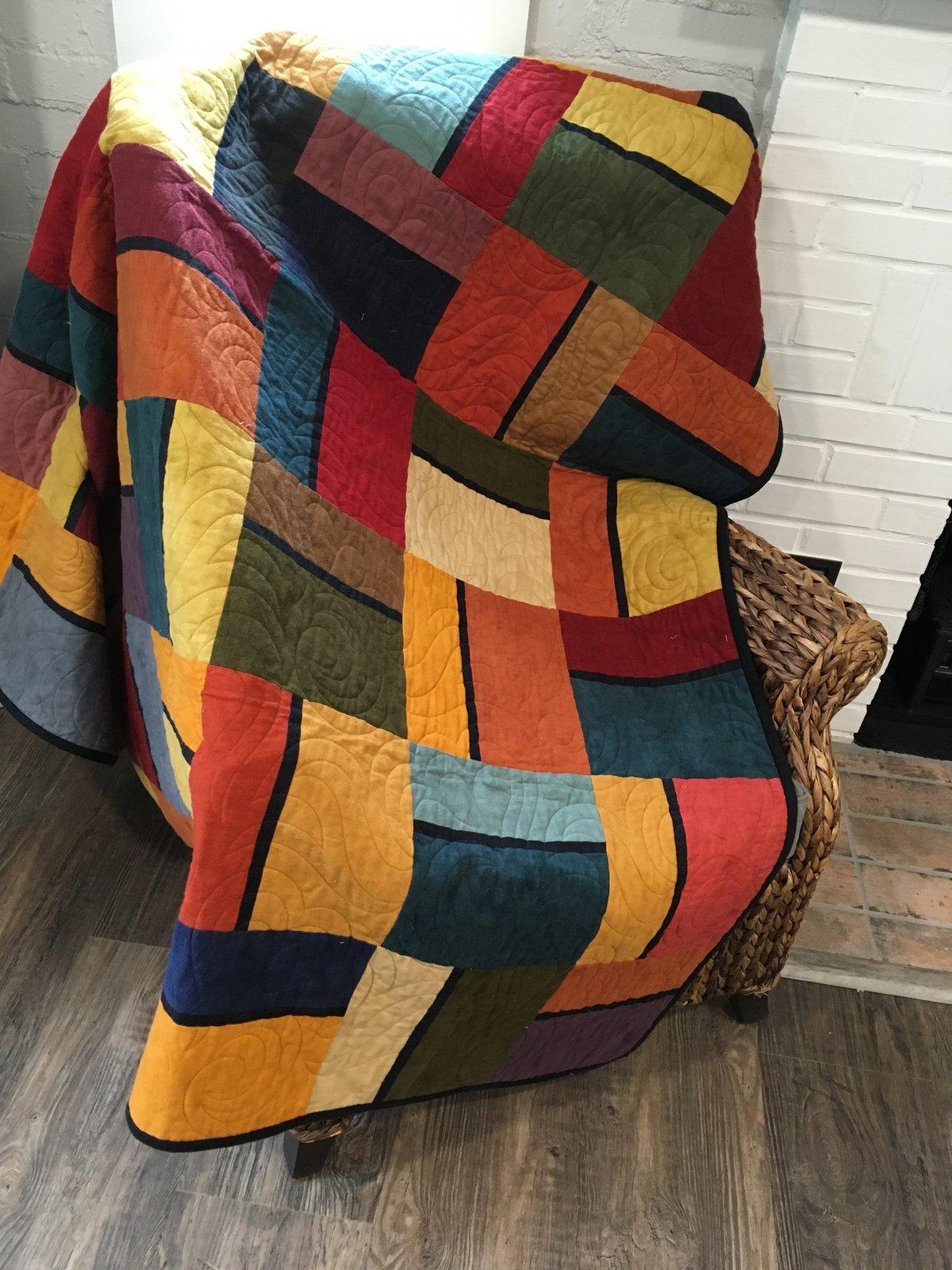 Kit - Color Block - Precut- Flannel - Multi