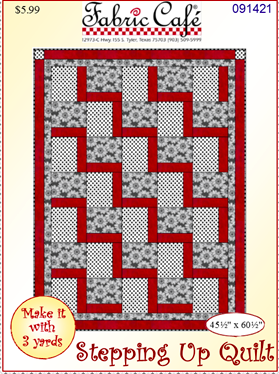 Stepping Up 3 yard quilt pattern