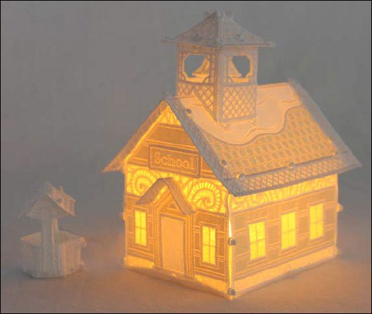 OESD Christmas Village: Schoolhouse with Well - 12518