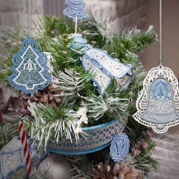 Silver Bells Ornaments