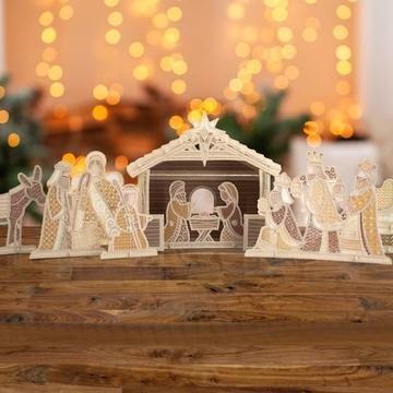 OESD Freestanding Nativity Scene