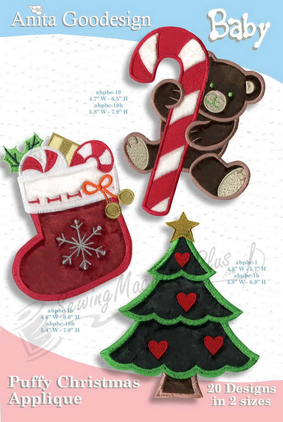 Puffy Christmas Applique Baby Collection