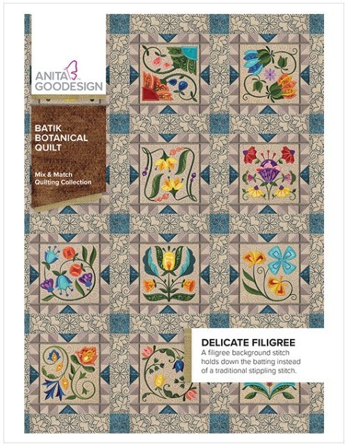 AGD Batik Botanical Quilt Mix & Match