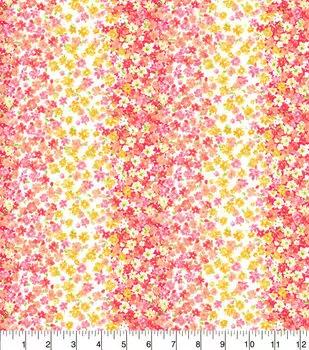 Floral Stripes Coral