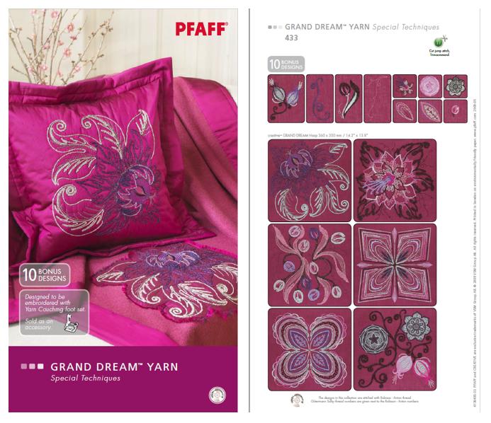 Pfaff Embroidery Collection #433 Grand Dream Yarn