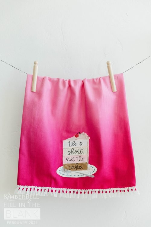 Towel Set - Ombre Pink & Lime