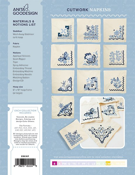AGD Express Cutwork Napkins October 2016 Project 29