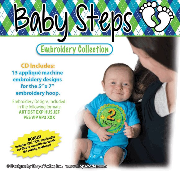 Baby Steps Embroidery Collection