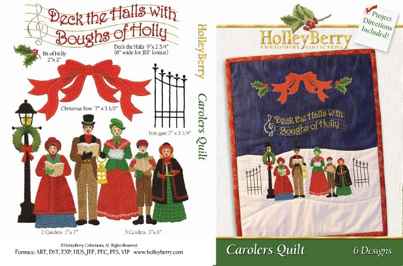 Carolers Quilt Digital Download