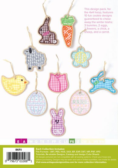 AGD Easter Cookie Ornaments PJ's In The Hoop Projects