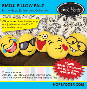 Emoji Pillow Pals In The Hoop Collection