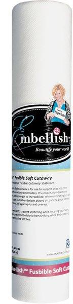 Embellish Fusible Soft Cutaway 20x10 Yds