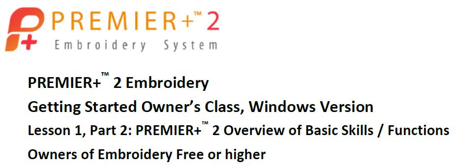 Premier+ 2 Lesson 2