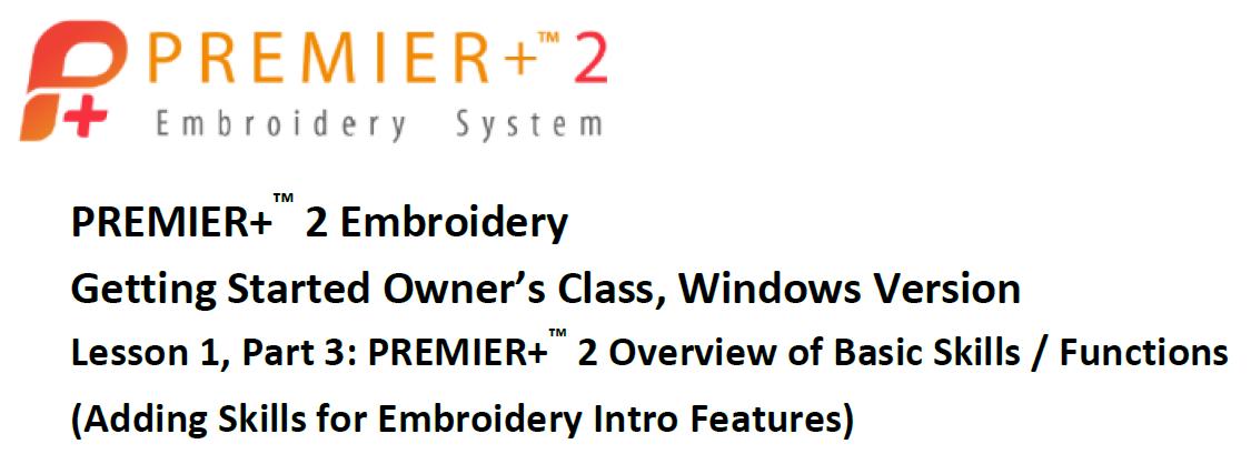 Premier+ 2 Lesson 3
