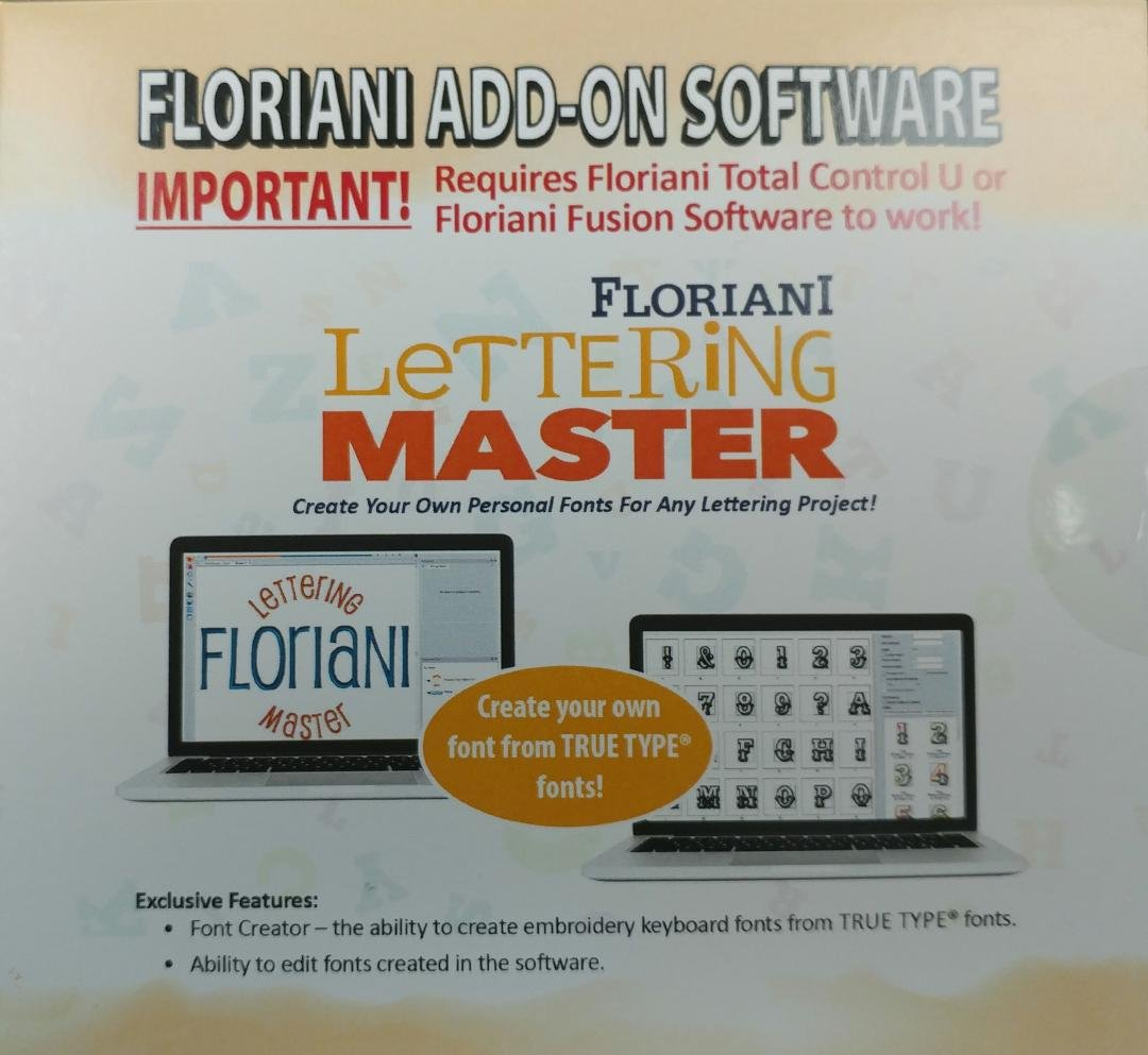 Floriani Lettering Master Add-On Software