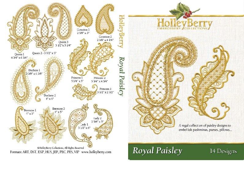 Royal Paisley Digital Download