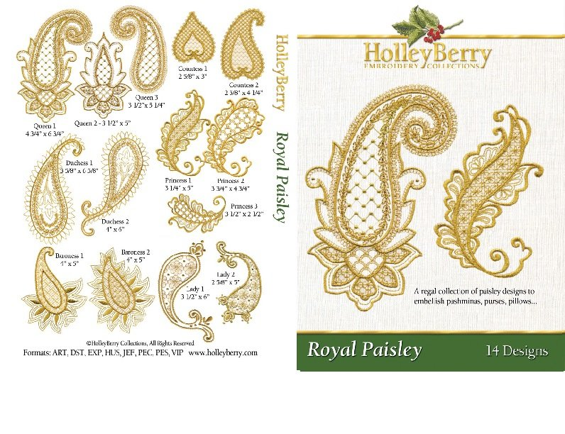 Royal Paisley Digital Download