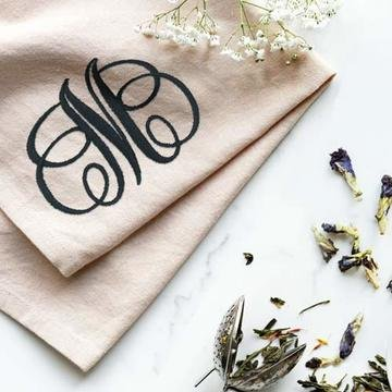Swirled Monogram Embroidery Collection