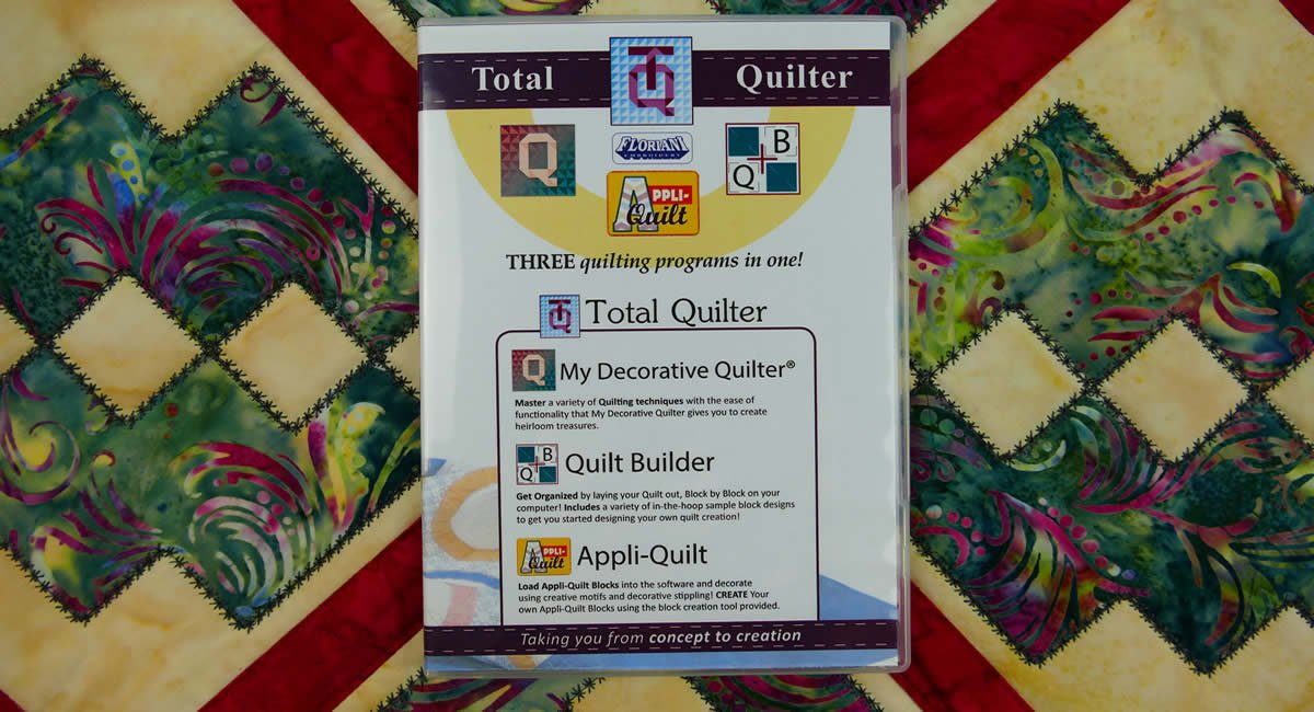 Floriani My Total Quilter Software (Contains MDQII, MAQ, MQB)