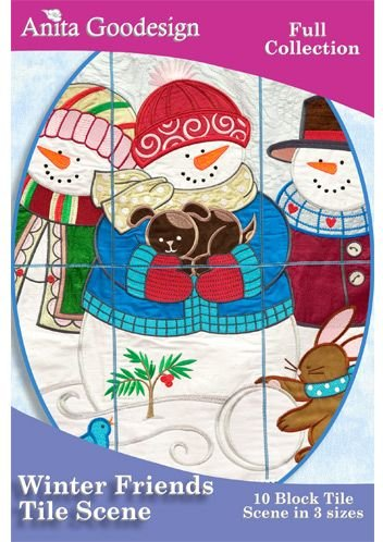Winter Friends Tile Scene Full Collection