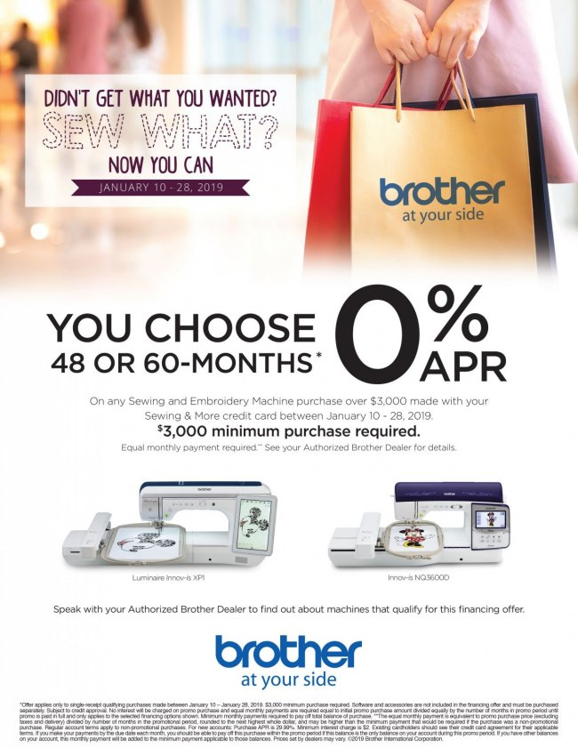 Brother January 2019 Promo Ad