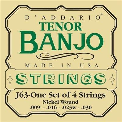 D'addario Tenor Banjo J63-One Set 4 Strings Nickel Wound