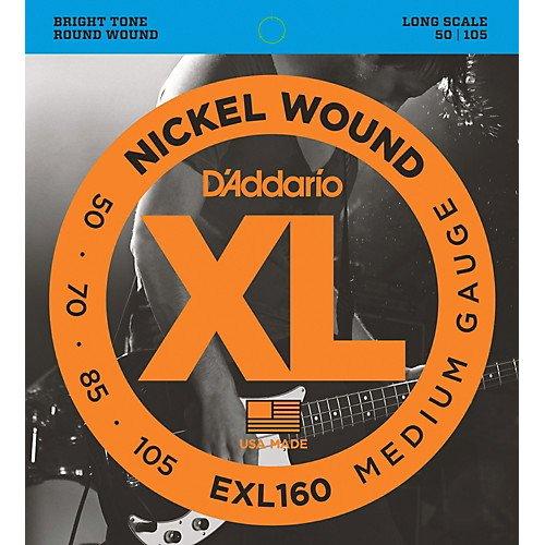 D'addario EXL160 Electric Guitar Strings, Medium Gauge, 50-105