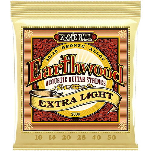 Ernie Ball Earthwood 2006 Extra Light 10/50 80/20 Bronze Alloy