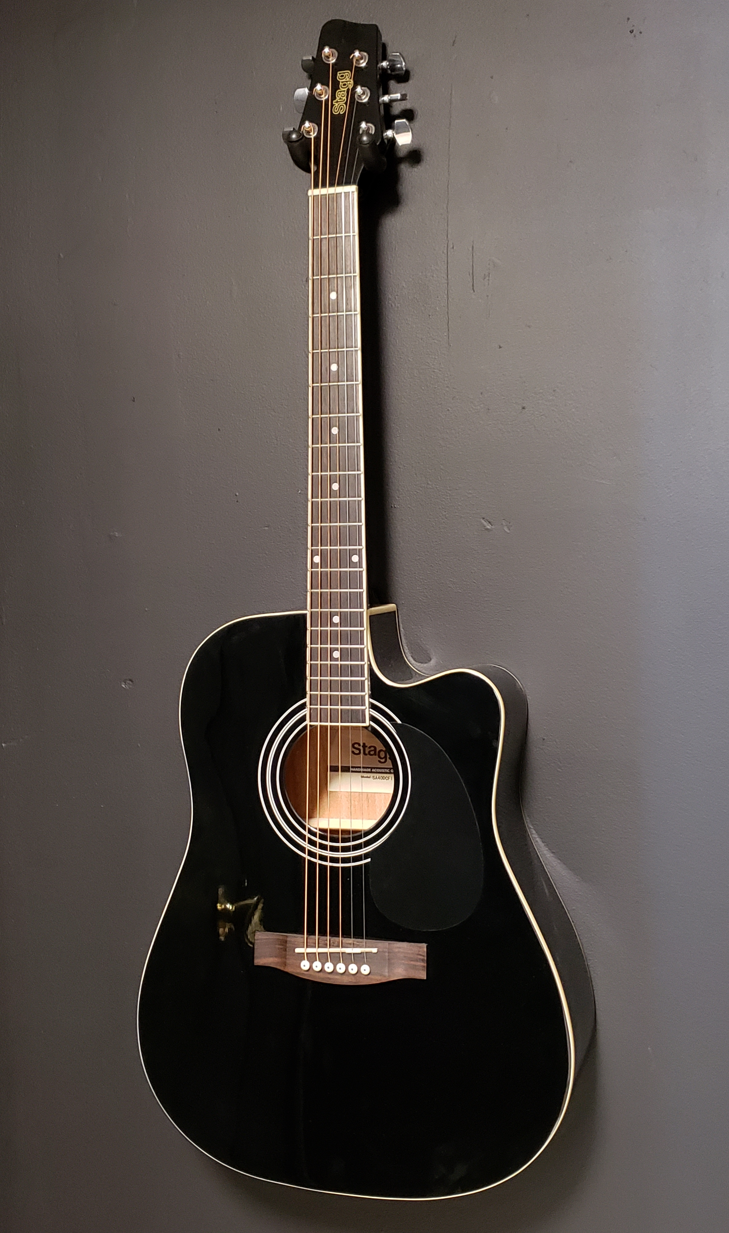 Stagg SA40DCFI-BK Acoustic Electric