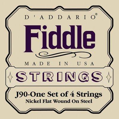 D'addario J90-One Set of 4 Strings Nickel Flat Wound on Steel